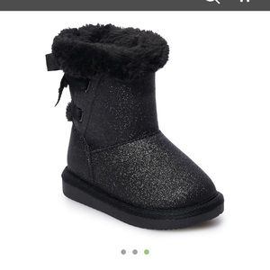 Jumping Bean black sparkly 2T boots